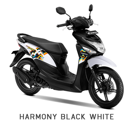 BEAT POP HONDA MATIC BLACK WHITE