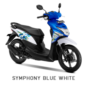 BEAT POP HONDA MATIC BLUE WHITE