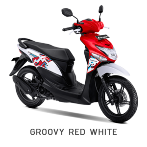 BEAT POP HONDA MATIC RED WHITE