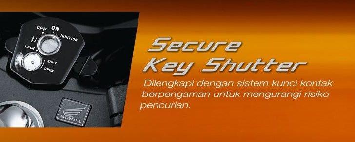 Sistem Secure Key Shutter cbr-150r